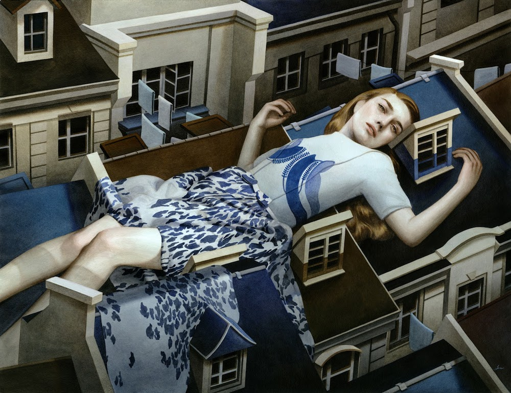 Tran Nguyen Paintings-Sleeping-With-Nostalgia