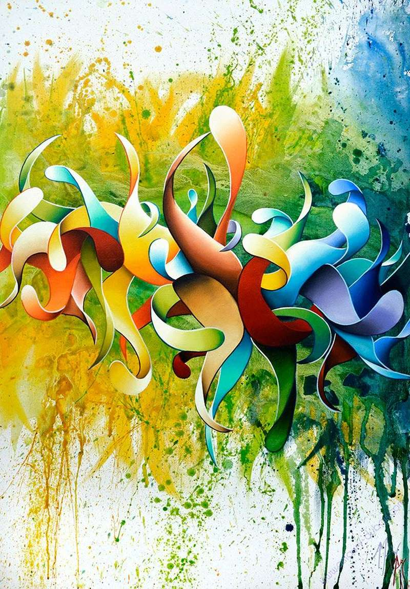 Amaury Dubois Abstract Painting Butterfly