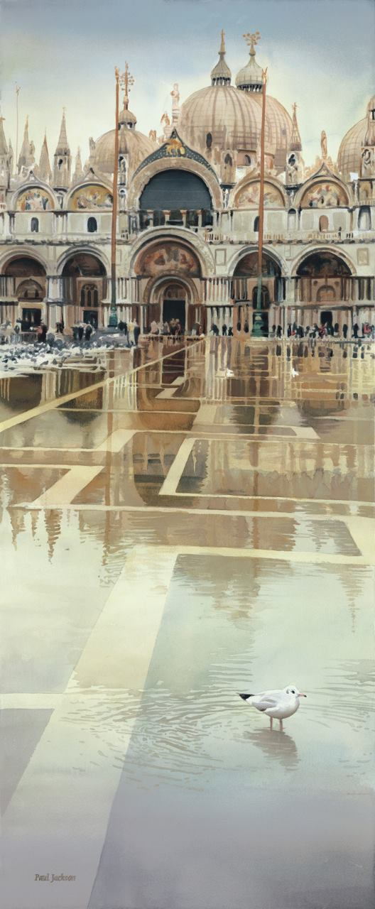 Paul Jackson Watercolor Painting Floating Palace