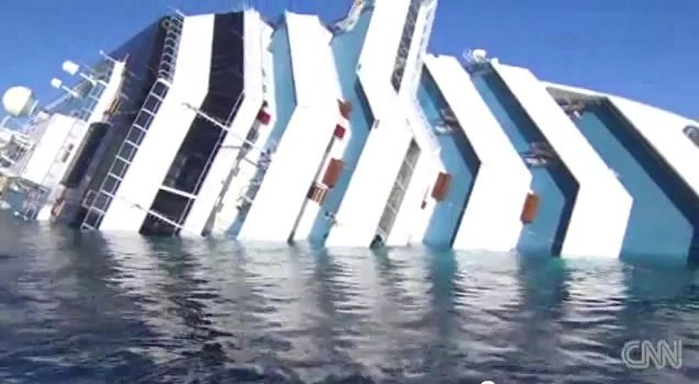 Costa Concordia - CNN - Via Youtube