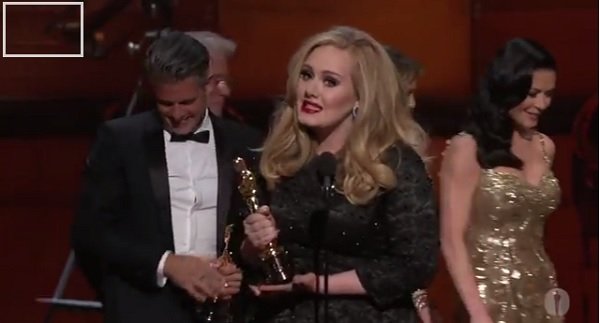 Adele  /  Photo: Oscar Youtube Channel (printscreen)