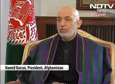 Hamid Karzai / NDTV - Youtube Channel