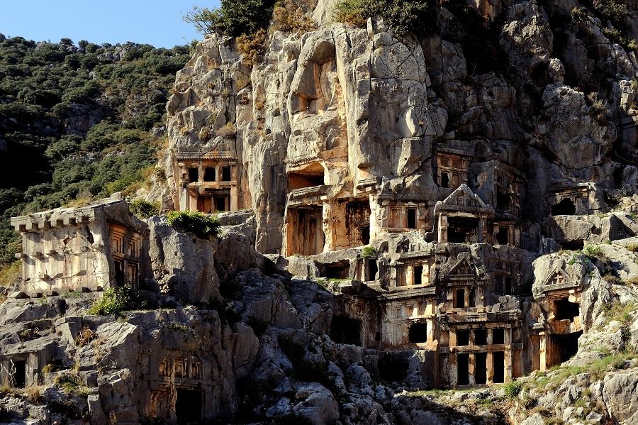 Rock tombs in Myra - Lycia, Turkey