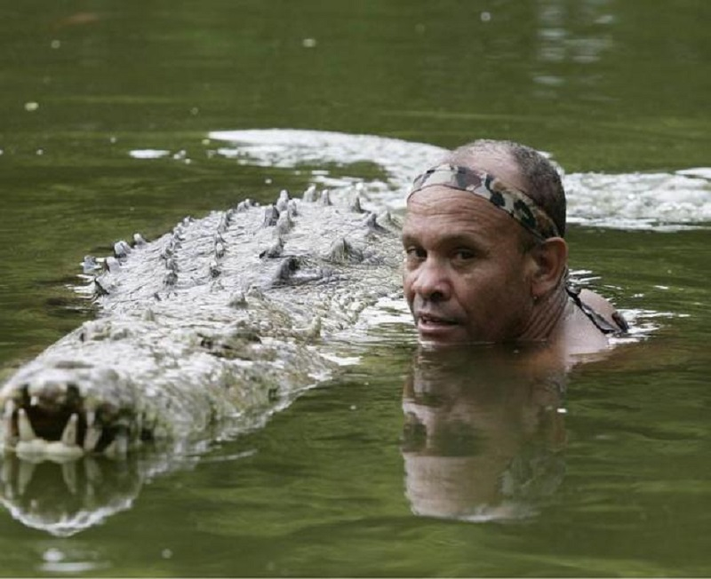 Man and Crocodile