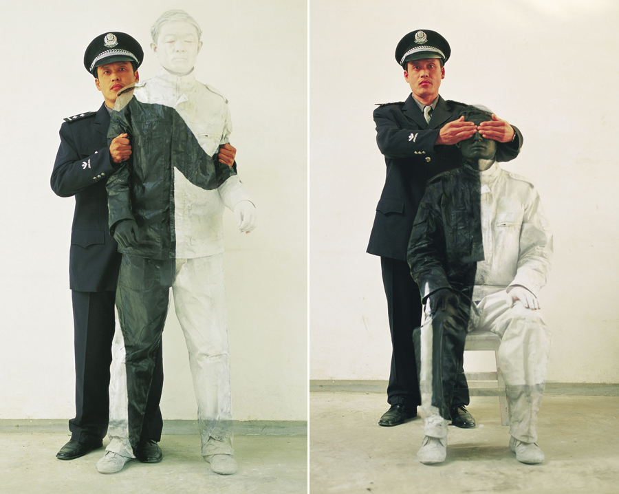 liu bolin camouflage invisible man