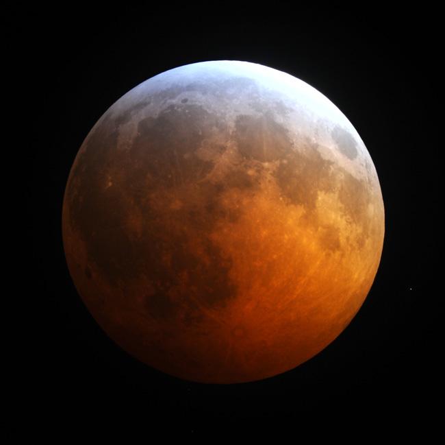 Reddened Moon Lunar Eclipse
