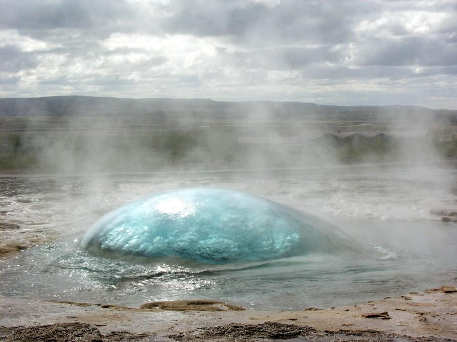 Geysers Before Eruption, Strokkur, Iceland