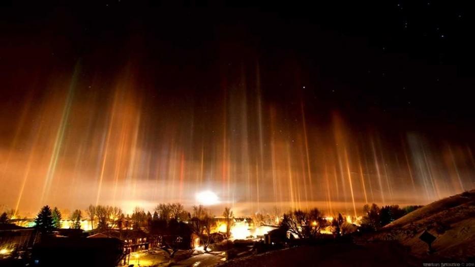 Light Pillars, Russia