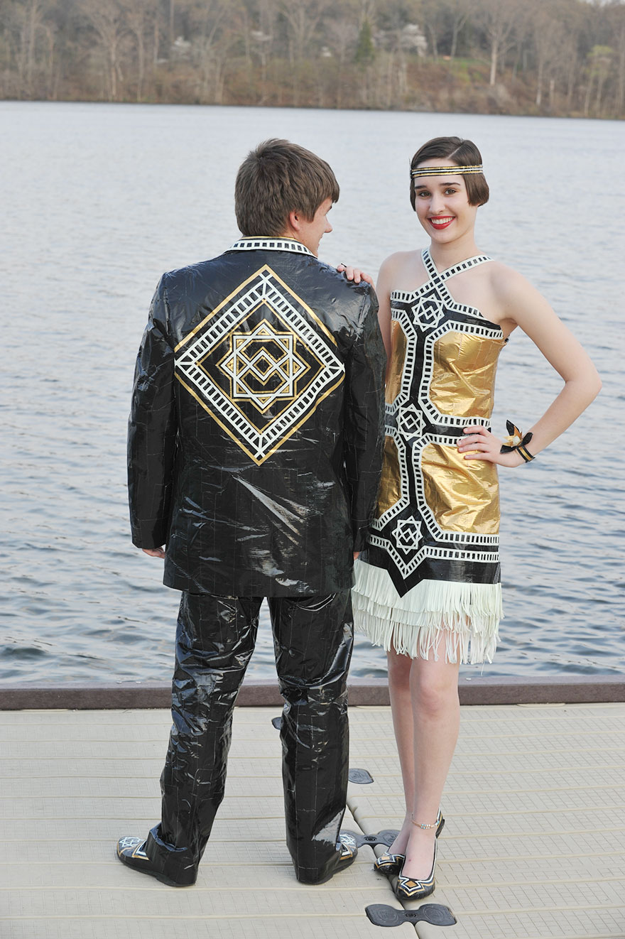 Ryan Danko and Gabrielle Farina created duct tape prom ...