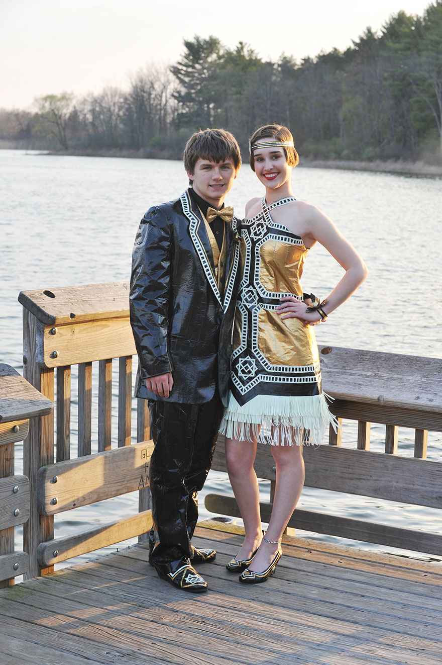 Ryan Danko and Gabrielle Farina - duck-tape-stuck-at-prom-outfit 549875