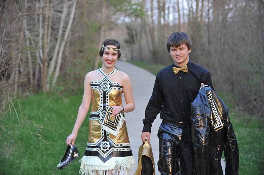 Ryan Danko and Gabrielle Farina - duck-tape-stuck-at-prom-outfit 745845