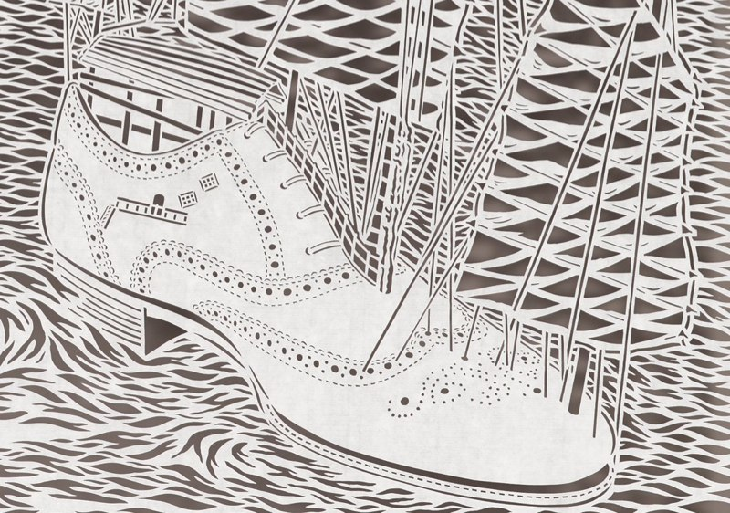 1-Bovey Lee - Cut Paper - Shoe