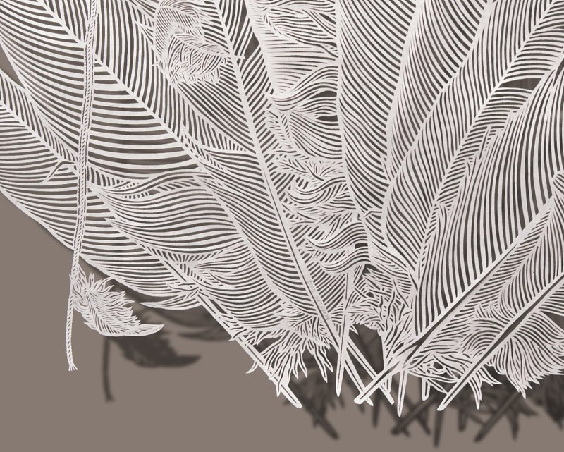 1-Bovey Lee - Cut Paper - Trimming Feathers 154658