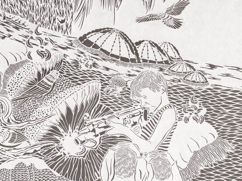 1-Bovey Lee - Cut Paper -Tsunami-Oblivious