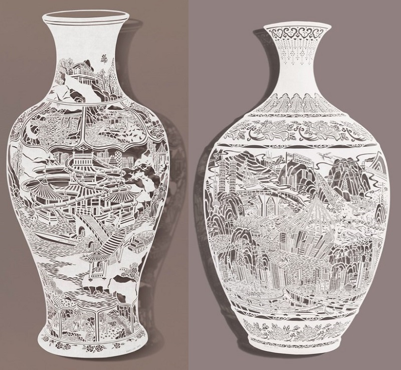 1-Bovey Lee - Cut Paper - Vases