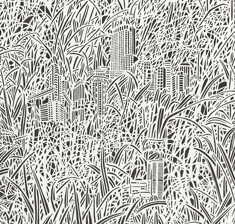 Bovey-Lee_Paper Hand Cut _ Outgrown Grass-Buildings x254685