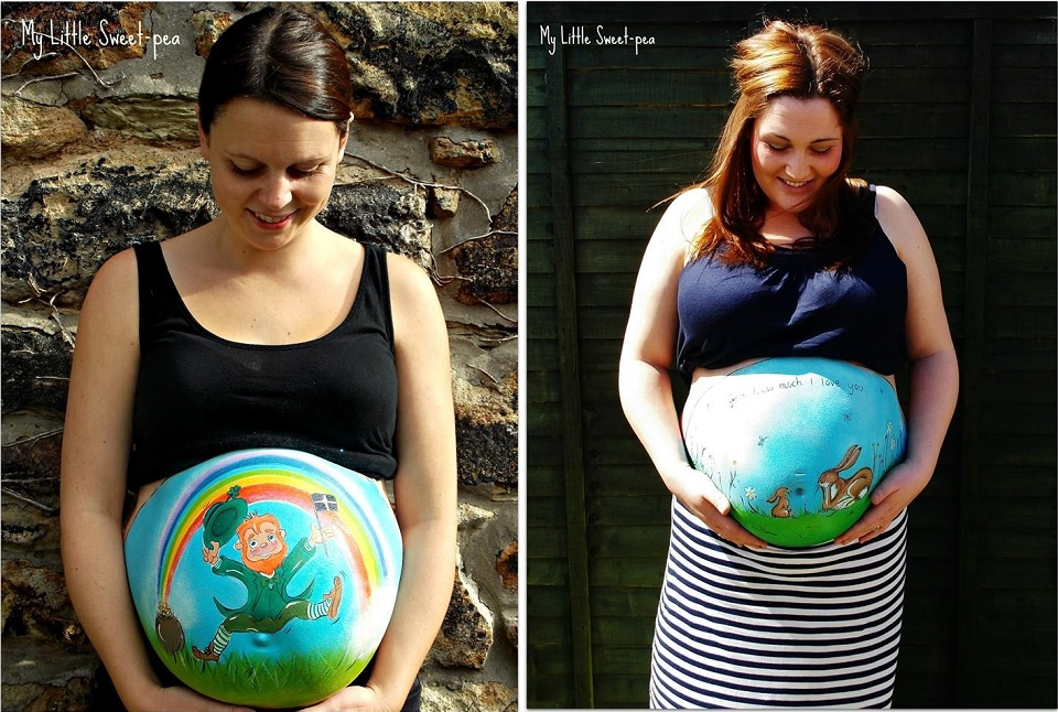 Carrie Preston - Pregnancy Bump Painting  0-6954285