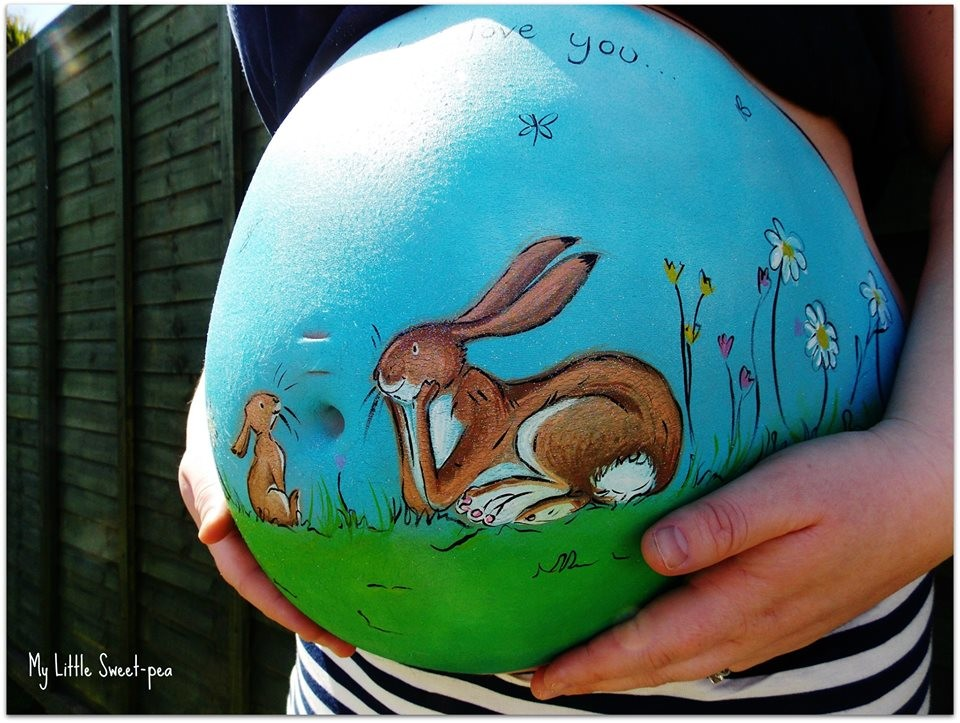 Carrie Preston - Pregnancy Bump Painting  2-64854213