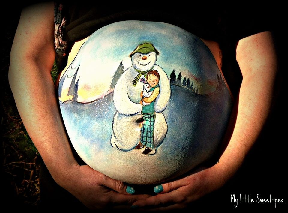 Carrie Preston - Pregnancy Bump Painting  69584125