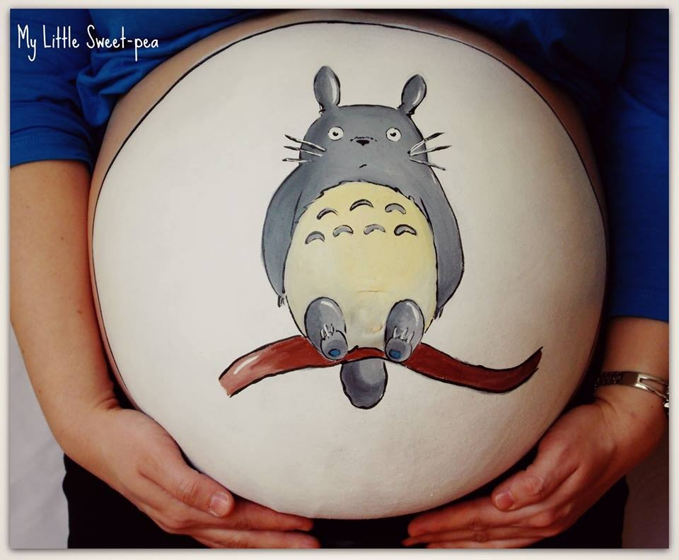 Carrie Preston - Pregnancy Bump Painting  9854256