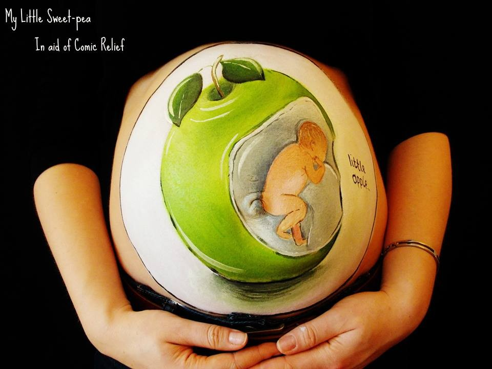 Carrie Preston - Pregnancy Bump Painting  99854251