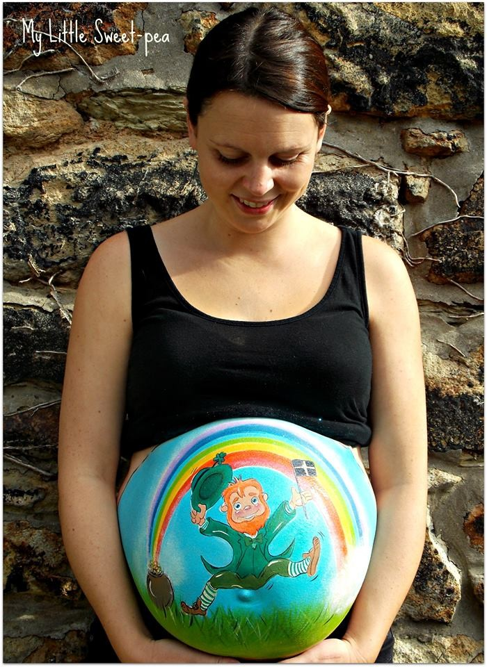 Carrie Preston – Pregnancy Bump Painting  Feature