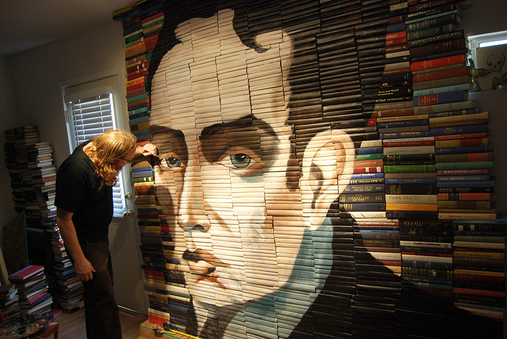 Mike Stilkey - Books Paintings 25976522