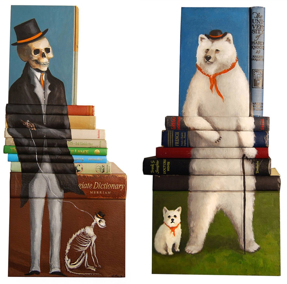 Mike Stilkey - Books Paintings 69551325