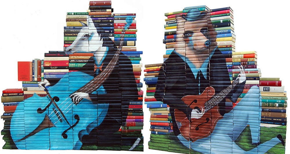 Mike Stilkey - Books Paintings 8964224