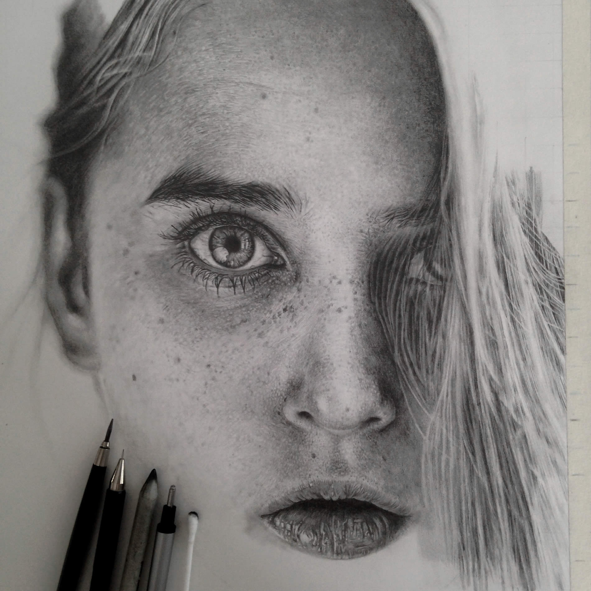 Monica Lee graphite pencil drawings 2745123