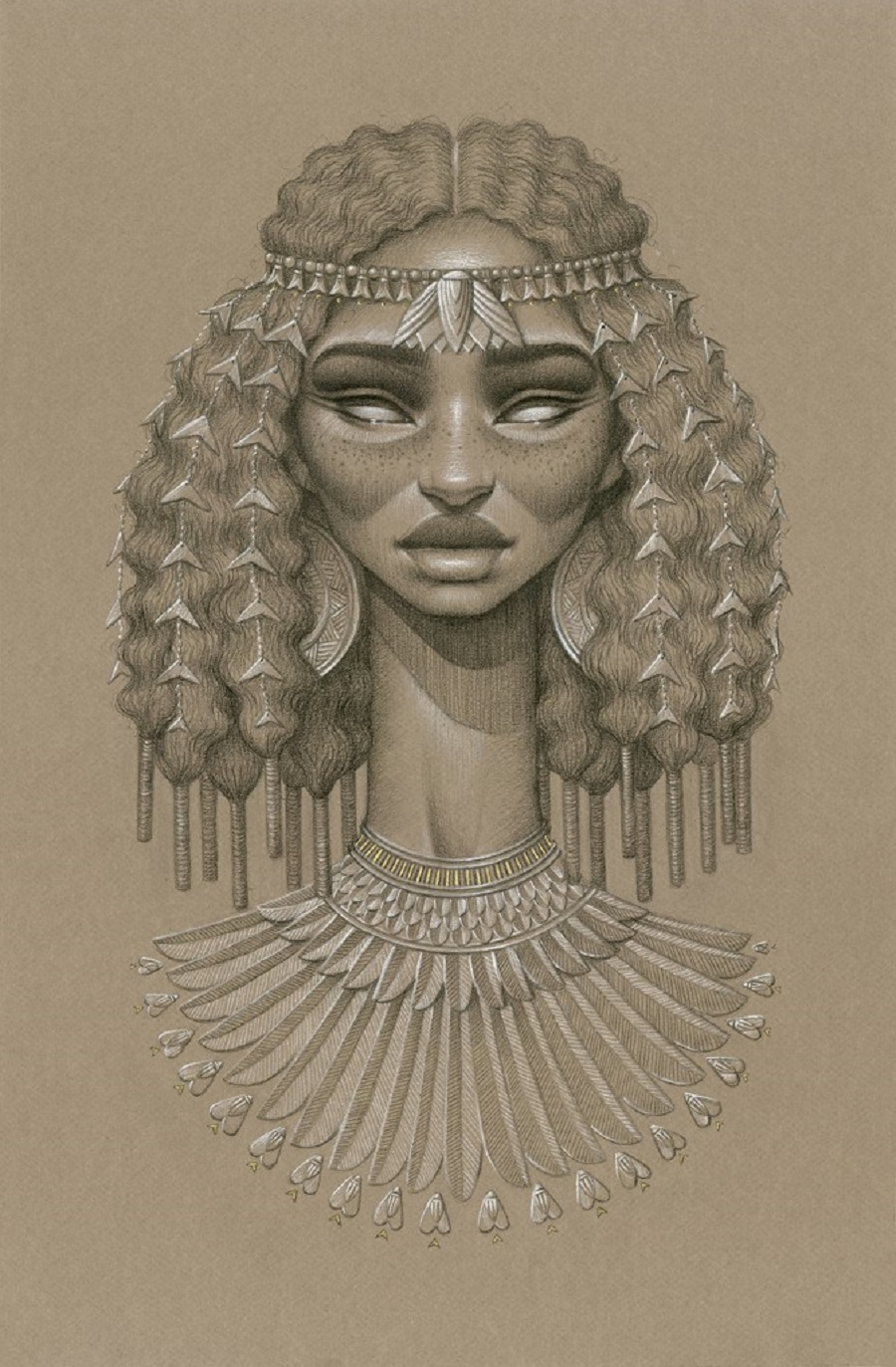 Nefertum Sun Goddess by Sara Golish