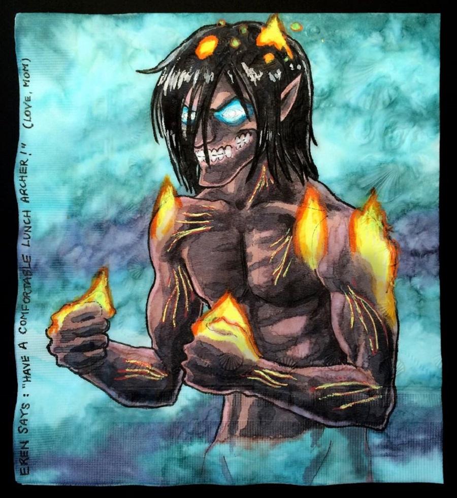 Nina Levy - Napkin Drawings - Attack on Titan