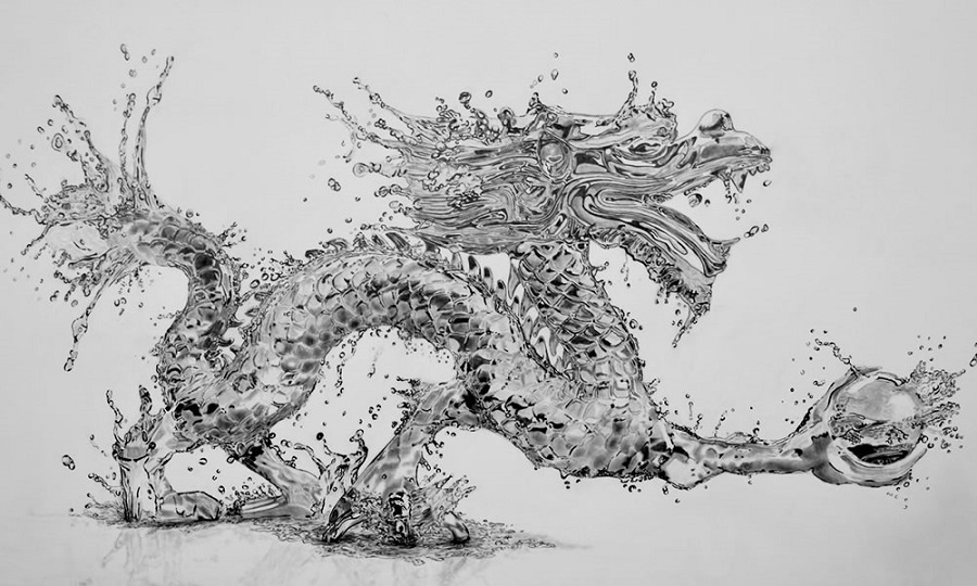 Paul Stowe - Pencil Drawing - Dragon
