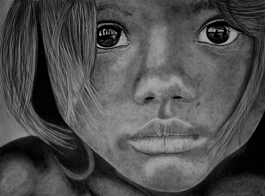 Paul Stowe - Pencil Drawing - Melancholy