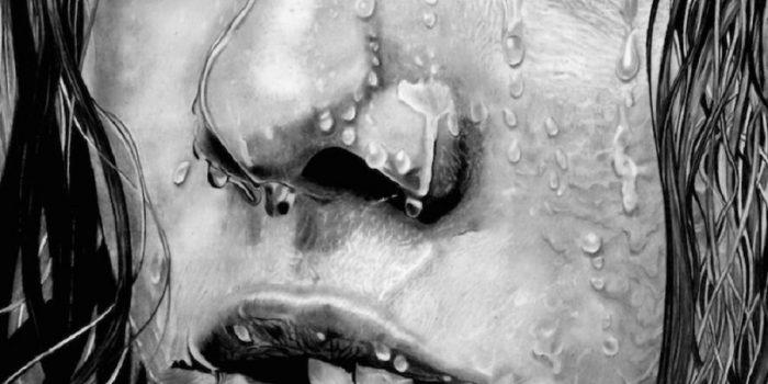 Paul Stowe – Pencil Drawing – Wet Face