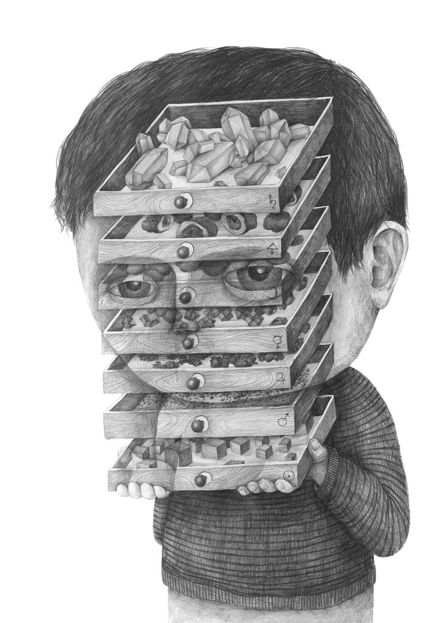 Stefan Zsaitsits Surreal Pencil Drawings Depicting People