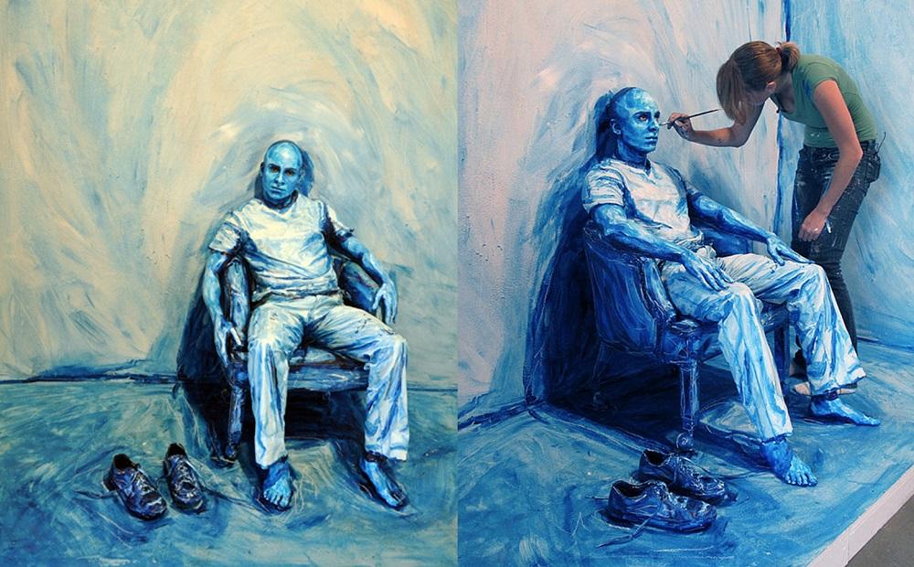 Alexa Meade - Painting - Body Canvas 6241586