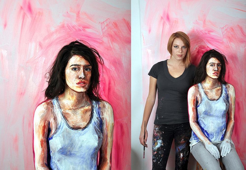 Alexa Meade - Painting - Body Canvas 98541269