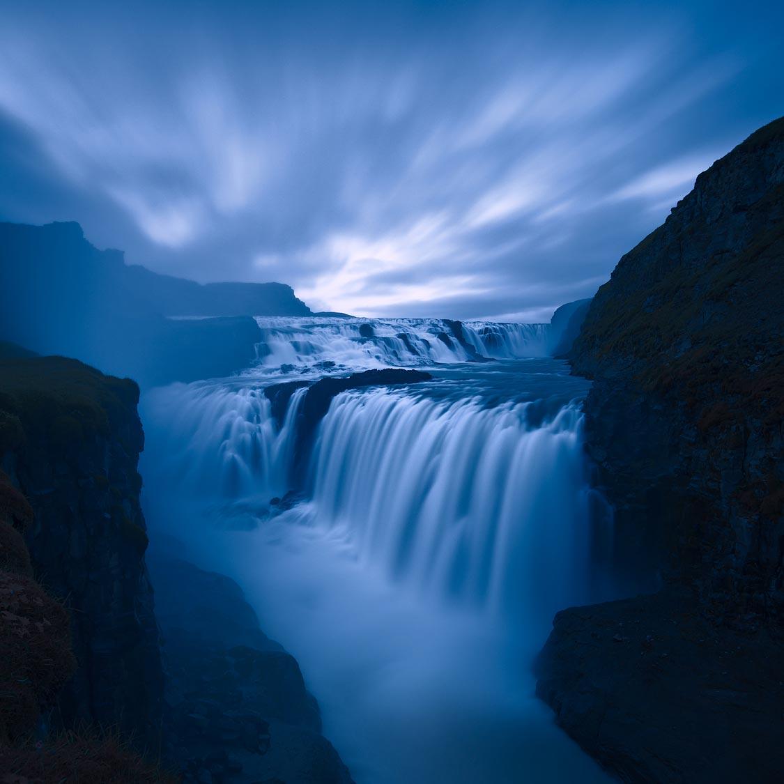 Jérôme Berbigier - Iceland - Gullfoss-Night