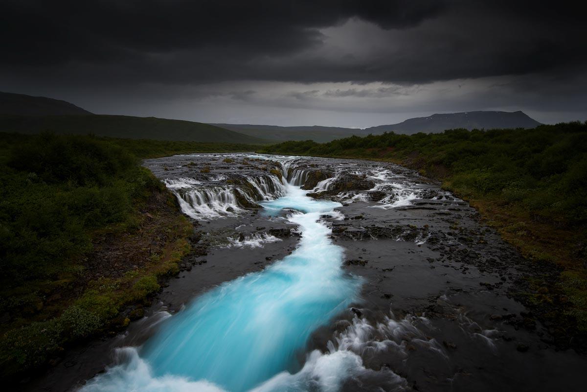 Jérôme Berbigier - Iceland - Turquoise-Falls-Bruarfoss