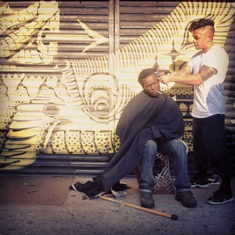 MARK BUSTOS - New York - Homeless Haircut 362985