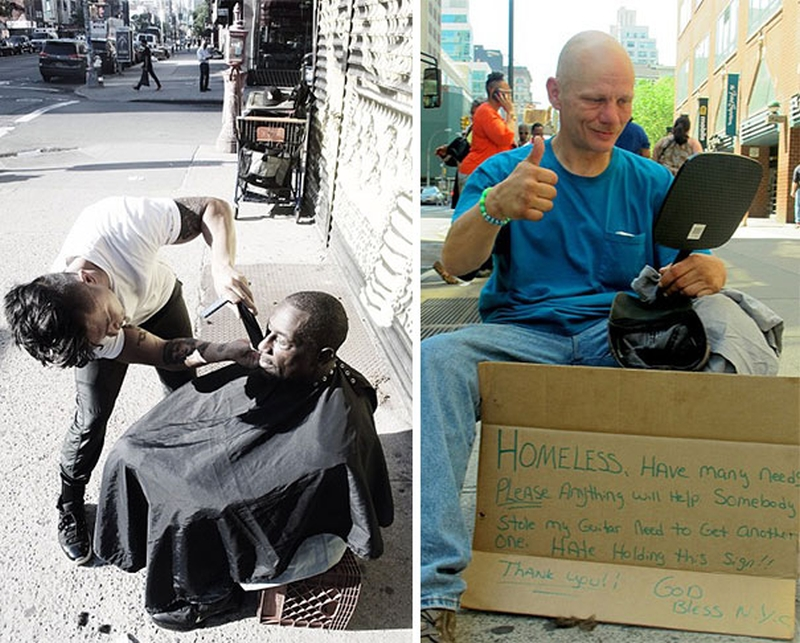 MARK BUSTOS - New York - Homeless Haircut 369856