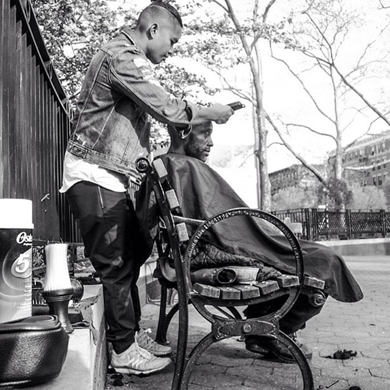 MARK BUSTOS - New York - Homeless Haircut 96856