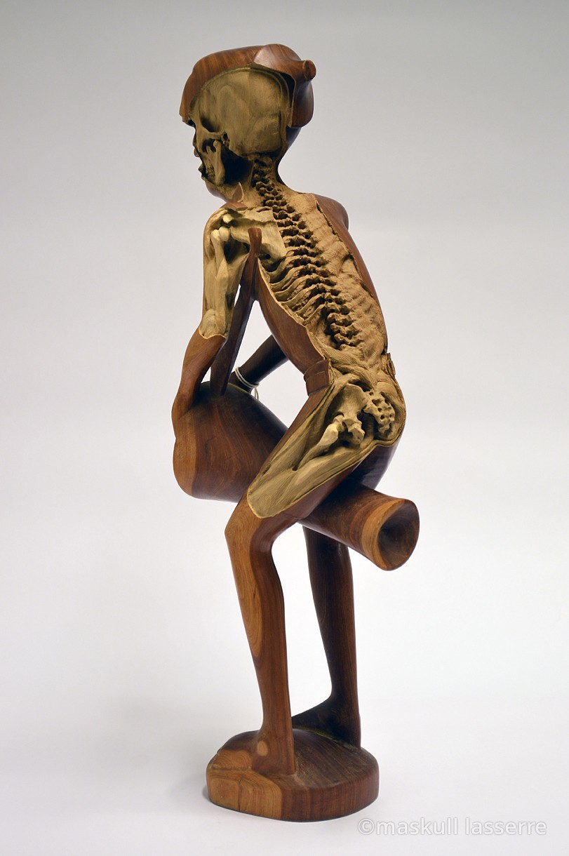 Maskull lasserre re carves sculptures to reveal their