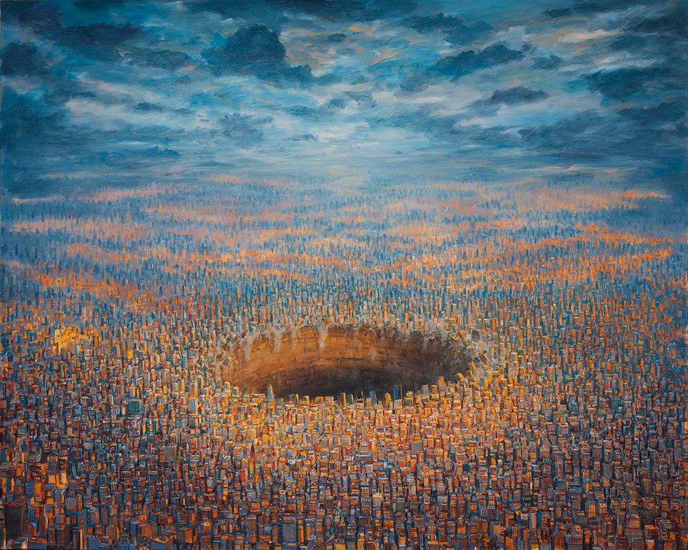 Michael Kerbow - Painting- Diminishing_Returns