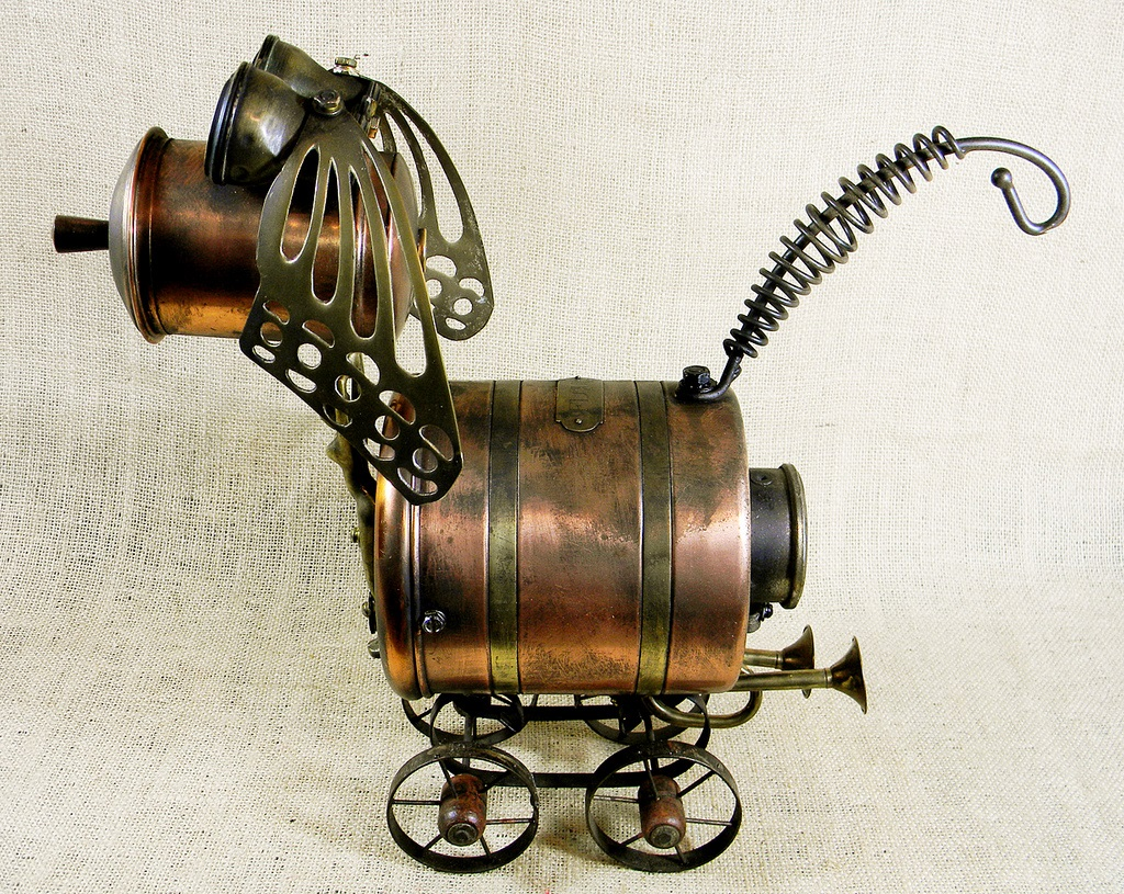Will Wagenaar - Robot dog - Steampunk Sculpture - LADY