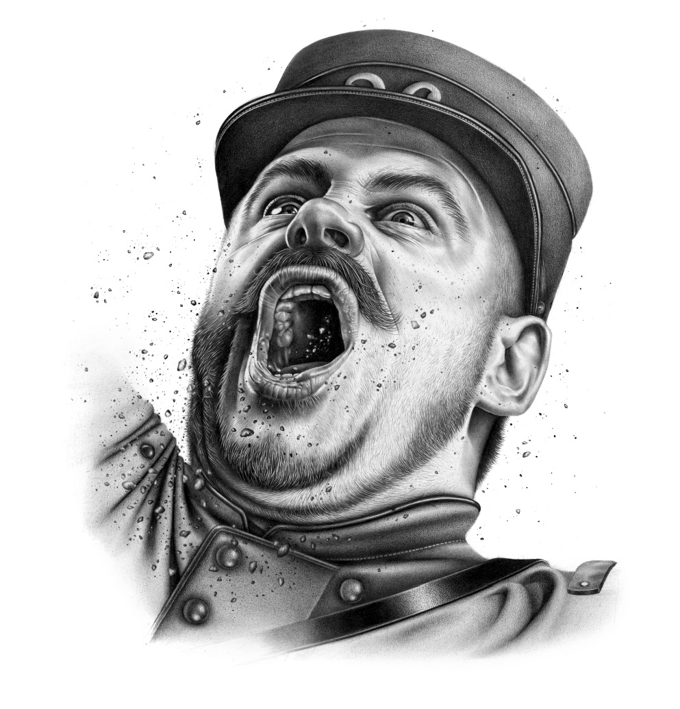 violaine and jeremy - Pencil Drawings - LA GRANDE GUERRE