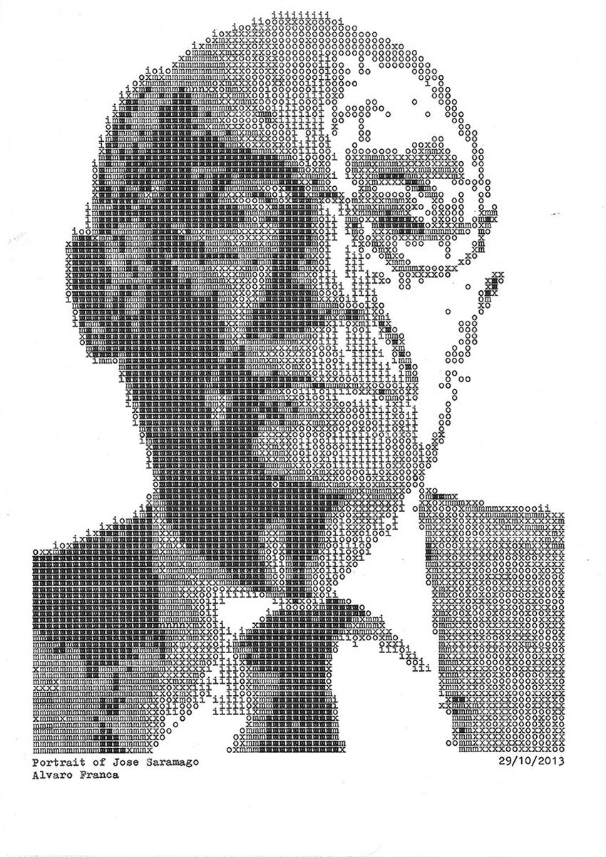 Álvaro Franca - Type Writer Drawings - 2-865963