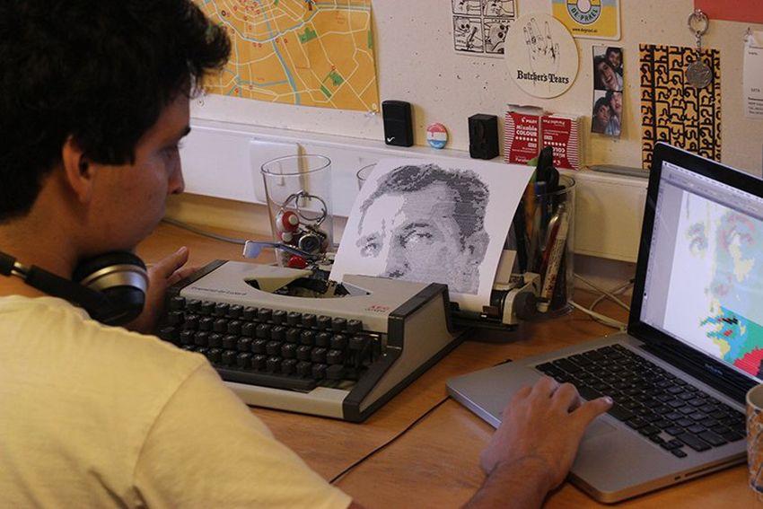 Álvaro Franca - Type Writer Drawings - 3-79825