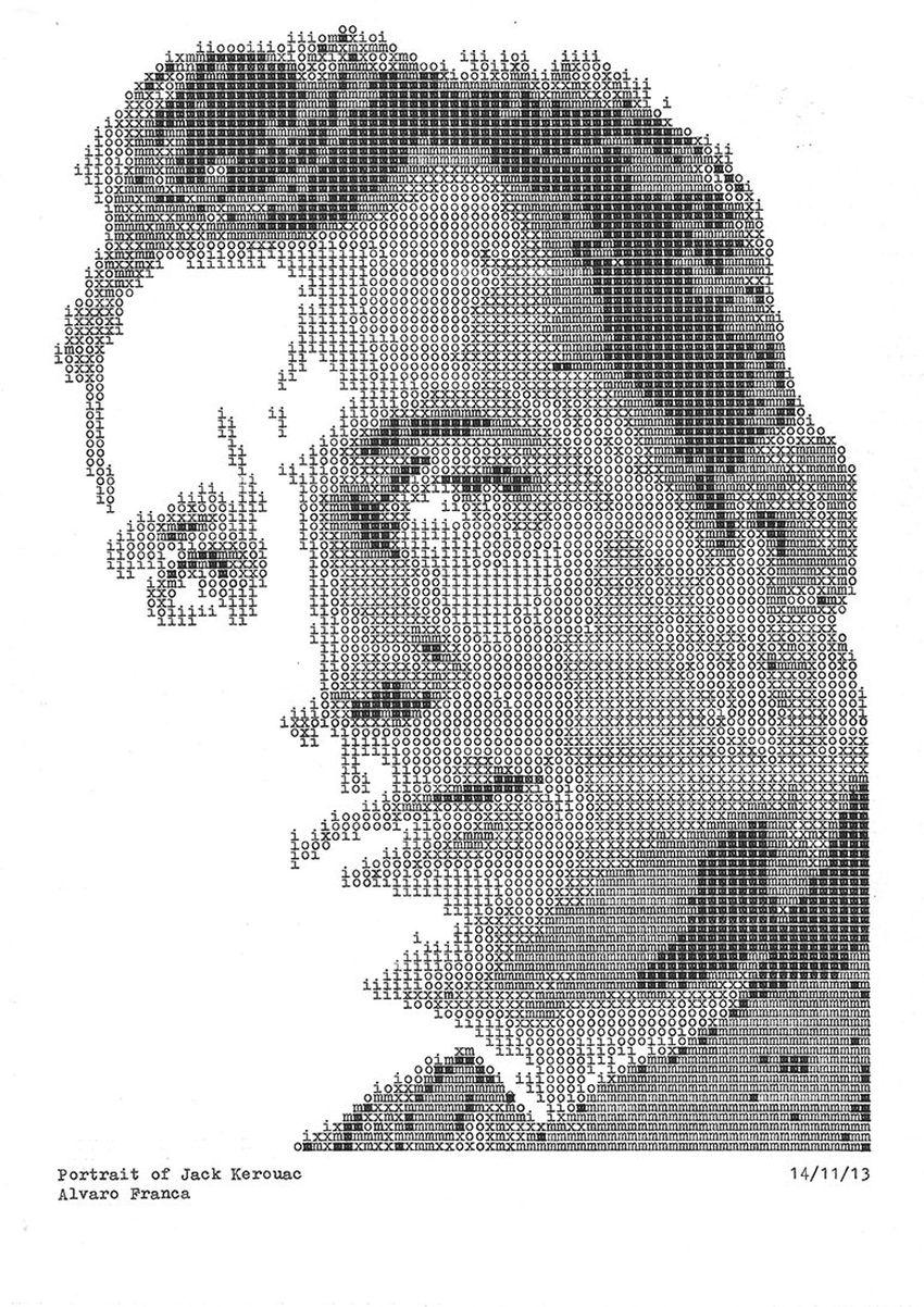 Álvaro Franca - Type Writer Drawings - 3-859632
